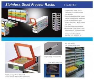 stainless steel freezer racks detail